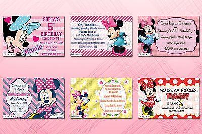 Custom Printable Minnie Mouse Birthday Party Invitations](Custom Minnie Mouse Birthday Invitations)