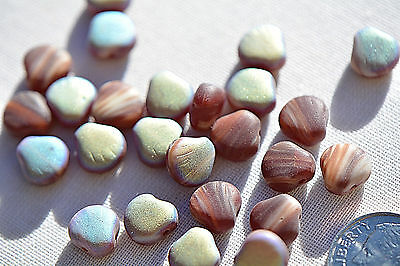 (25) Czech Glass Beads - 9mm Druk Shell - Amethyst mix with AB - DS9-AAB ()