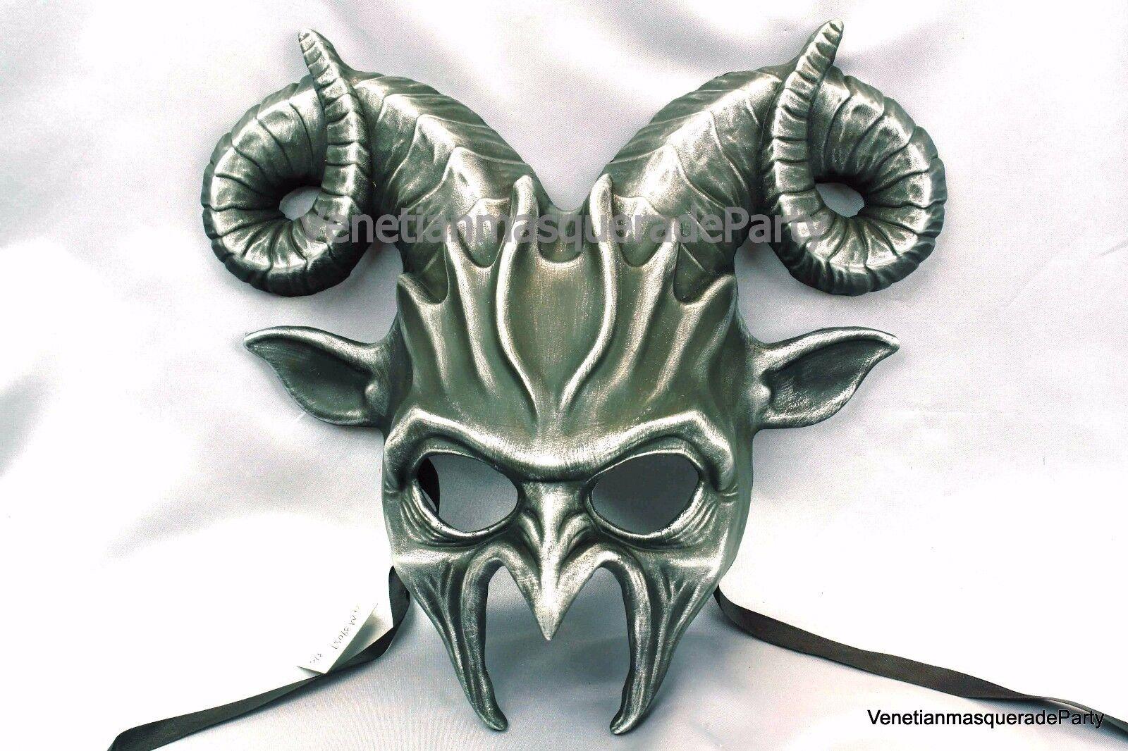 Ram Goat Masquerade Devil Mask Halloween costume Animal party prom ...