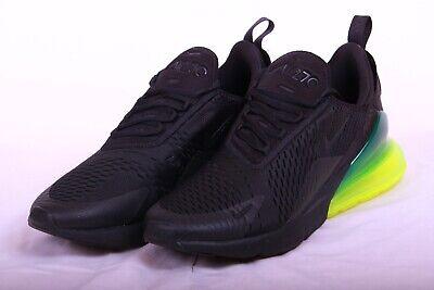Nike Men's Air Max 270 Running Shoes Black Volt AH8050 011 Size 10.5