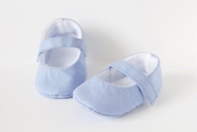 Baby shoes, baby girls shoe, baby shoes girls, light blue cotton Mary Jane shoe