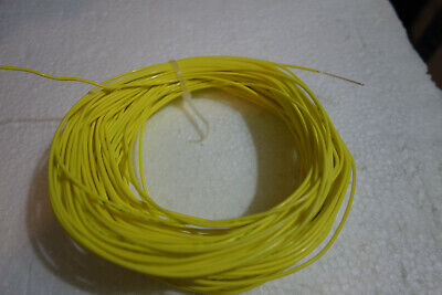 100 Ft 20 Awg Mil Spec M2275911 Stranded Yellow 600v Silver Plated Teflon Wire