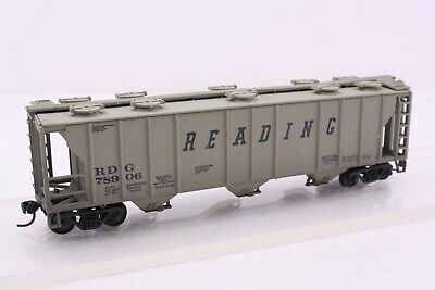 Con-Cor HO Scale Reading PS2 3 Bay Covered Hopper Weathered Upgraded RDG 78906 Hopper Ps2 3 Bay