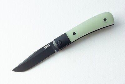 "Pena Knives X-Series Trapper Front Flipper Natural G-10 (2.75"" Black M390)"