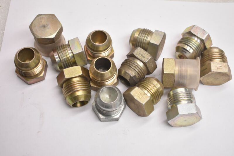 (15) HYDRAULIC FITTING 2408-12 FITTING, MJ, PLUG STAINLESS STEEL