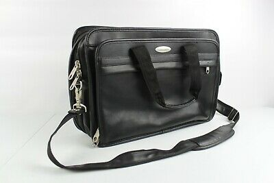 Samsonite 1910 Leather Laptop Case Carry On Travel Bag