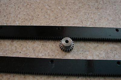 Cnc Stepper Motor Mech Rack Gear 48 Rack 2 Pc 24 14 20t Pinion Gear