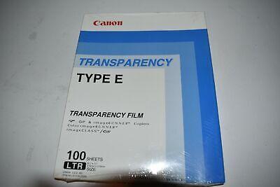 ^^ CANON Transparencia Película Tipo E 100 Hojas - Nuevo 6101AJ28AA (TM1)