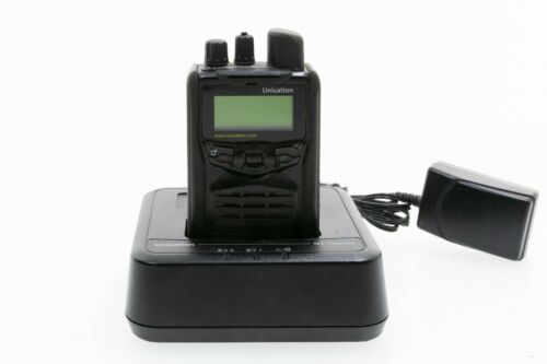 Unication G1 33-39 MHz Fire EMS Bluetooth Stored Voice Pager AG1AAX1 & Charger