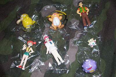 Pokemon Gashapon figures Part 2 by TOMY Brock Misty Nurse Joy Raichu Psyduck