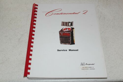 AMI  Continental 2 Service Manual - used