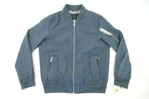 CALVIN KLEIN CK CM707404 BLUE GRAY SMALL FLIGHT BOMBER JACKE