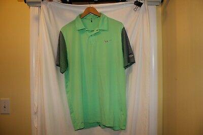 Tiger Woods Collection Nike Golf mens medium green polo Belgrade Lakes Golf Club