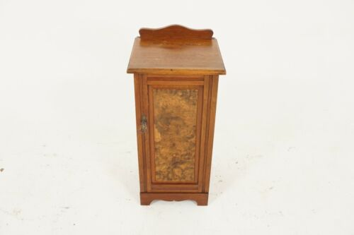 Antique Victorian Walnut Nightstand, End Table, Lamp Table, Scotland 1890, B2240