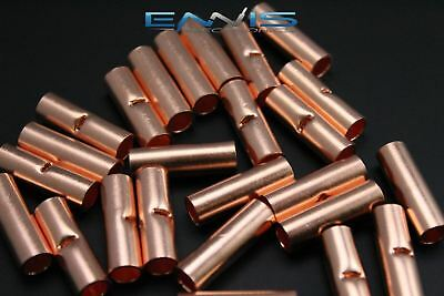 4 Gauge Copper Butt Connector 5 Pk Crimp Terminal Awg Battery Cur4