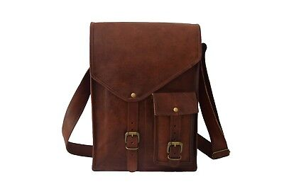 Vintage Leather Messenger Bag Mens 15 Inch Laptop Satchel Cr