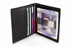 LUXURY-NEW-QUALITY-SOFT-LEATHER-CREDIT-CARD-HOLDER-WALLET-MONEY-CLIP-MENS-GIFT