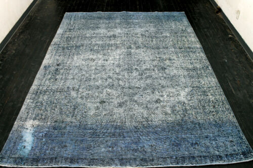 8X11 1920s INCREDIBLE HAND KNOTTED 90+YEARS ANTIQUE WOOL TABRIZZ DISTRESSED RUG