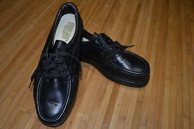 Iron Age Steel Toe Work Shoes Mens 8W Made in USA Black 230055 707 LM82736