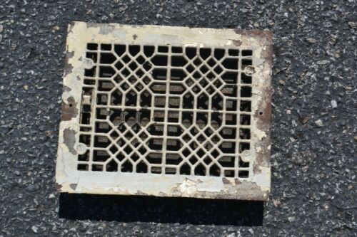 ANTIQUE VINTAGE METAL GRATE VENT WITH WORKING LOUVERS ORNATE