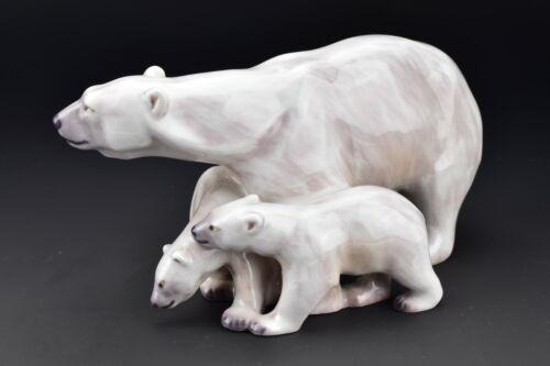 Rare Dahl Jensen Porcelain Polar Bear Figurine # 1068 Denmark