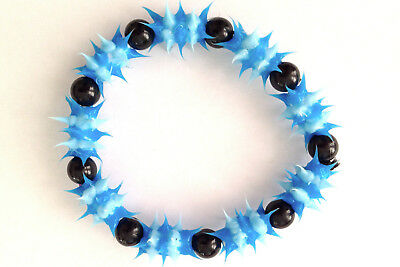UV GLOW  Silicone Bracelet surfer rave dance hippie Blue UV GLO 002 - Glo Bracelets