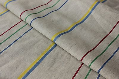 Vintage French unused Metis towel  fabric ~ 1yd lengths ~ natural material