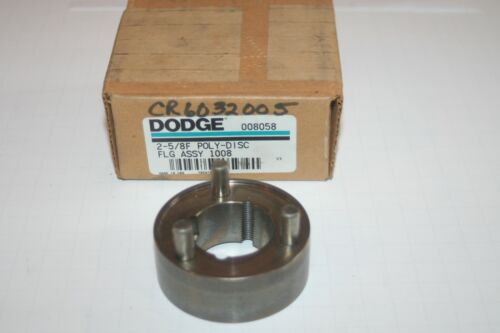 "DODGE 008058 Taper-Lock Flange Coupling, Size 2-5/8"" Poly-Disc * NEW *"