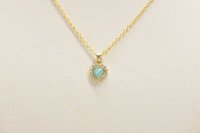 Opal Necklace Best Gift for Mom, Rose Gold Plated Heart Shape Necklace for Women
