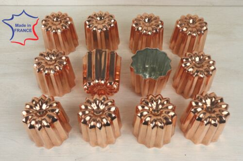 12 Copper canele molds Large 2.1 inches 12 Copper Cannele made in France