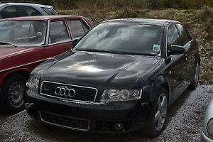 2003 AUDI A4 2.5 TDI QUATTRO SPORT AUTO BLACK  LEATHERS**spares or repair**