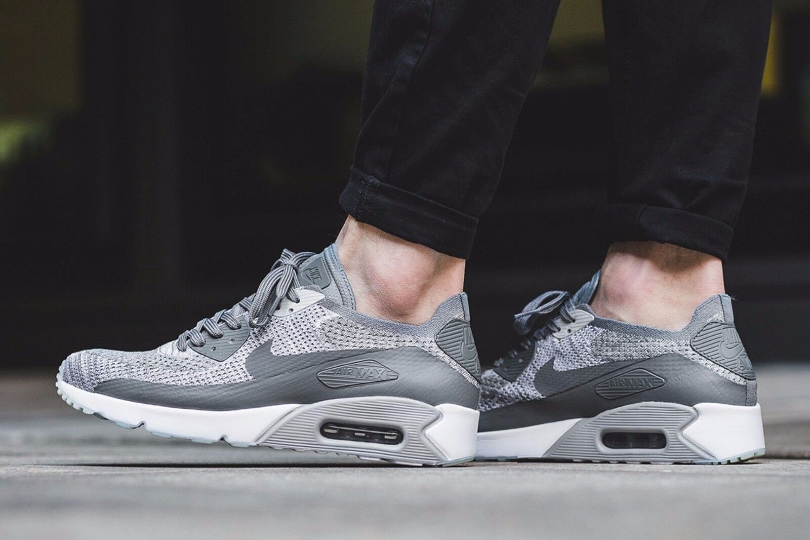 the latest f4d8f 8b835 Nike Air Max 90 Ultra 2.0 Flyknit Pure Platinum/Cool Grey 875943-003 Mens  9.5