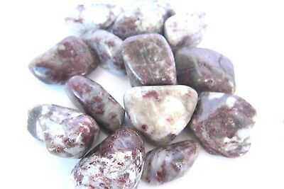 *THREE* Pink Tourmaline Tumbled Stone 40-45mm QTY3 Healing Crystal Heart Chakra