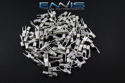10-12 Gauge 50 Pk Uninsulatednon Insulated Spade 8 Terminal Connector Crimp