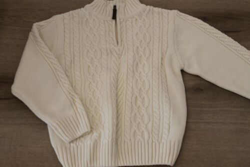 Boys Kitestrings CHUNKY WHITE CREAM CABLEKNIT sweater SIZE 8/10 SPRING EASTER