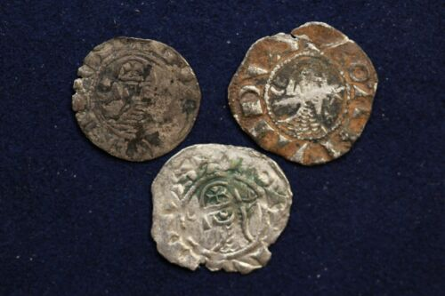 Crusader silver coins Antioch Bohemond III Lot of 3