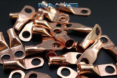 4 Gauge Copper 516 Ring 10 Pk Crimp Terminal Connector Awg Ga Car Eye Cur4516