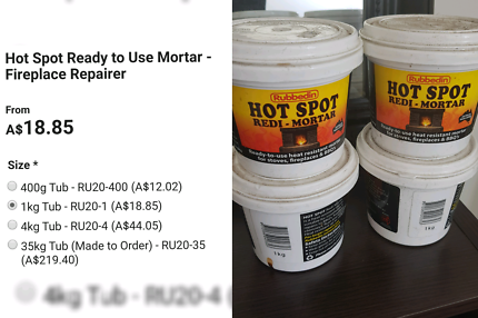 Hot spot ready mortar x4 • MASSIVE ONLINE GARAGE SALE