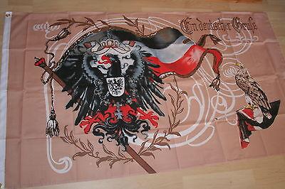 Fahne Flagge Kaiserreich Reichsadler -- Ein deutscher Gruß -- 150 x 90