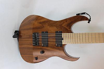 Custom Walnut 7 String R-Type Guitar EMG Gotoh Hipshot Dimarzio Cliplock Custom Electric Guitar Walnut