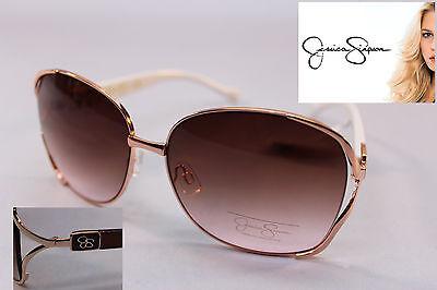 JESSICA SIMPSON Gold Oversized Aviator Designer Signature (Jessica Simpson Gold Aviator Sunglasses)