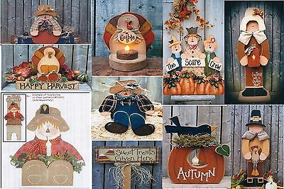 LG LOT OF 10 Fall / Halloween / Thanksgiving  Wood Patterns Closeout Sale LOT #1