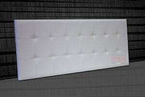 Pannello testata letto pensile imbottito diverse misure bancone maxi moderna big ebay - Testiere letto imbottite a muro ...