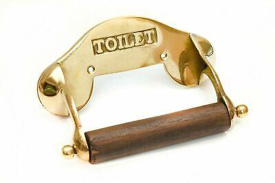 ✅ Vintage Messing Toilettenpapierhalter Klopapierhalter WC Holz Antik Stil