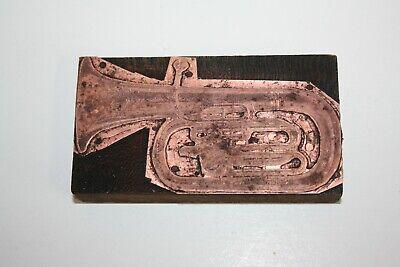 Vintage Printing Letterpress Printers Block Tuba 4 12 X 2 12 514