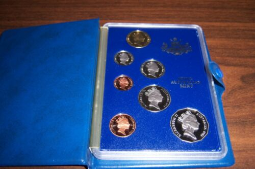 1986 Australia Proof Coin Set - Royal Australian Mint + COA  in orig box REDUCED