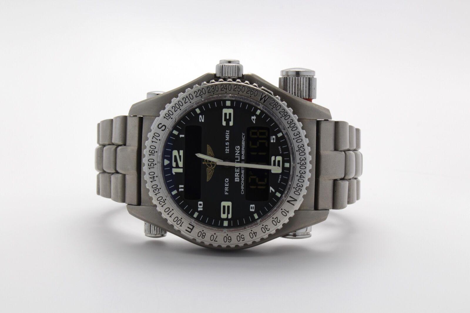 $4695.00 - Breitling Professional Emergency Titanium Black Dial E76321 43mm Superquartz