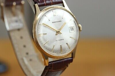 9ct gold Garrards  Gent's Automatic watch with Date