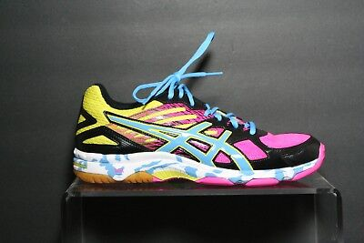 308dc9e6f9939 ASICS Gel Flashpoint 2 Volleyball Men 10 Women 11 11.5 Multi Neon Athletic  EUC