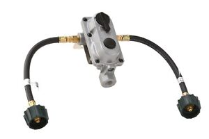2-Stage Auto Changeover Propane Gas RV Regulator Kit with 2 12
